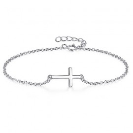 Stříbrný náramek - křížek