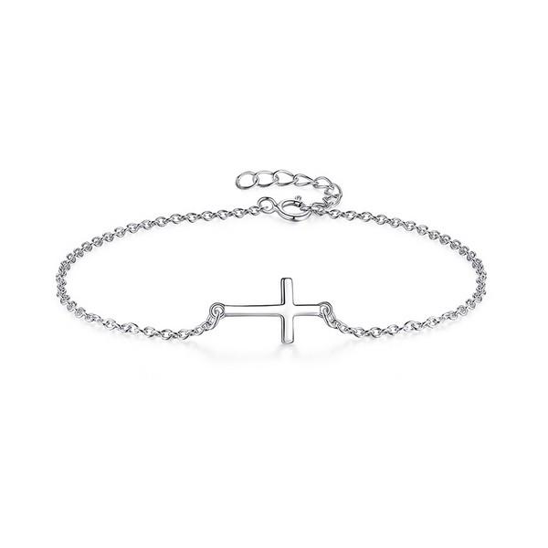 10bd025b2 Stříbrný náramek - křížek Stříbrné náramky