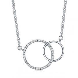 Stříbrný řetízek se 2ma kroužky