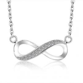 Stříbrný řetízek se symbolem nekonečno