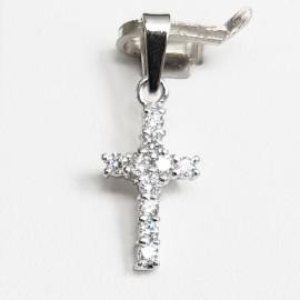 Stříbrný přívěšek křížek malý