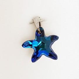Stříbrný přívěšek z dílny Crystals from Swarovski®, Montana Blue