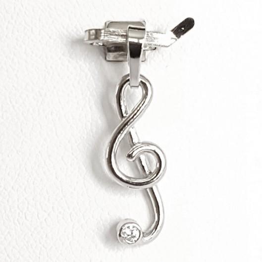Stříbrný přívěšek houslový klíč