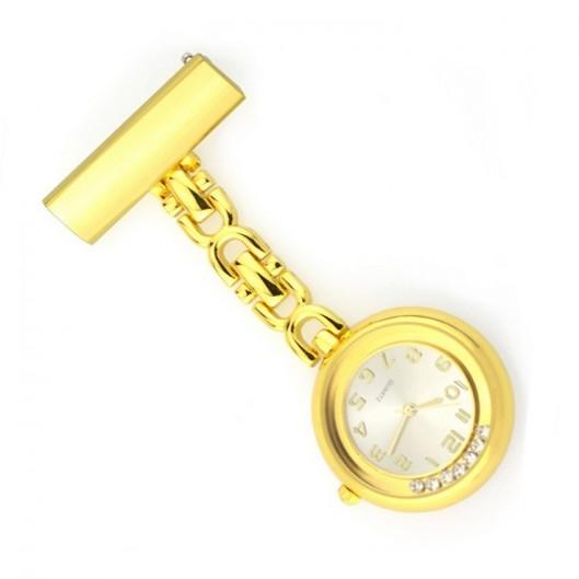 Připínací zlacené hodinky pro zdravotníky