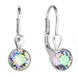 Stříbrné náušnice s krystaly Crystals from Swarovski®, Paradise Shine