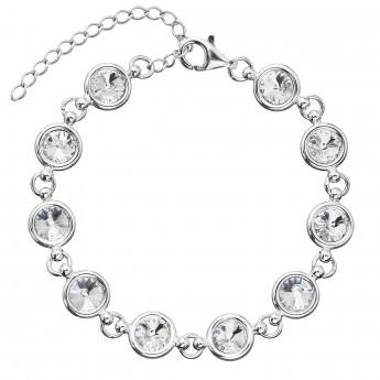 Stříbrný náramek se Swarovski krystaly bílý 33089.1