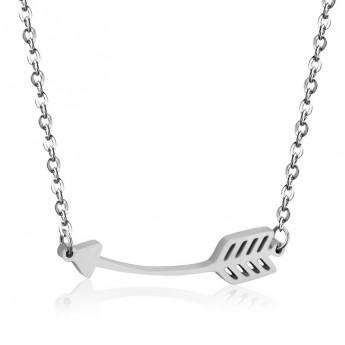 Ocelový náhrdelník - šipka