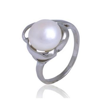 Ocelový prsten - perlička