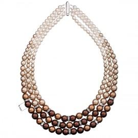 Perlový náhrdelník hnědý 32009.3