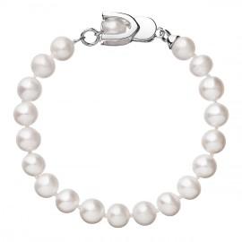 Perlový náramek z pravých říčních perel bílý 23007.1