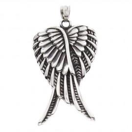 Přívěšek ocel - zkřížená andělská křídla