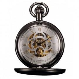 Černé mechanické kapesní hodinky v dárkovém balení