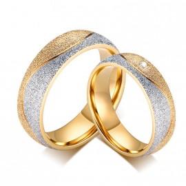 Snubní prsteny chirurgická ocel pískované