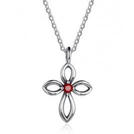 Stříbrný náhrdelník řetízek s křížkem