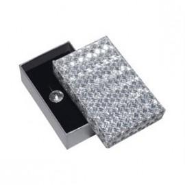 Dárková krabička stříbrná šedá světlá