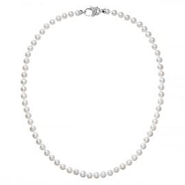 Perlový náhrdelník z pravých říčních perel bílý 22002.1