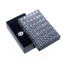 Dárková krabička stříbrná šedá/černá