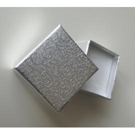 Dárková krabička na náušnice - stříbrná
