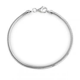 Stříbrný náramek had 3 mm, délka 20 cm