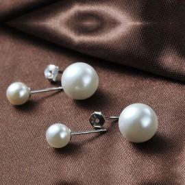Stříbrné náušnice s perličkami