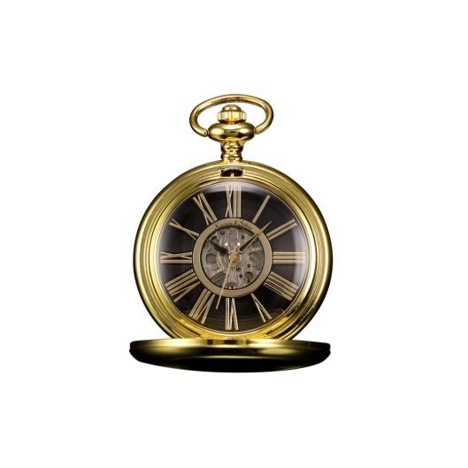 Zlacené mechanické kapesní hodinky v dárkovém balení b0e06c40f0