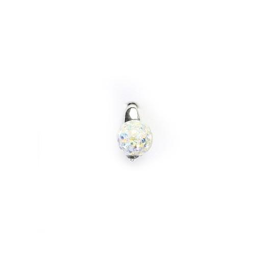Stříbrný přívěšek kulička s kamínky, barva: AB