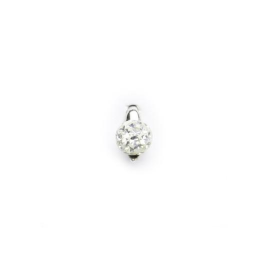 Stříbrný přívěšek kulička s kamínky, barva: CRYSTAL