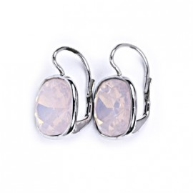 Stříbrné náušnice s kameny Crystals from Swarovski®, barva: ROSE WATER OPAL