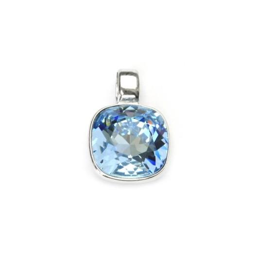 Stříbrný přívěšek s kamenem Crystals from SWAROVSKI®, barva: AQUAMARINE