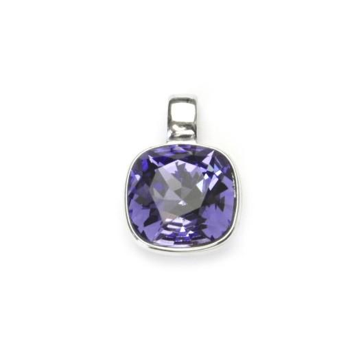 Stříbrný přívěšek s kamenem Crystals from SWAROVSKI®, barva: TANZANITE