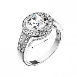 Stříbrný prsten s krystaly Swarovski bílý 35047.1