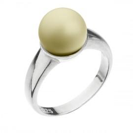 Stříbrný prsten s perlou pastelově žlutý 35022.3