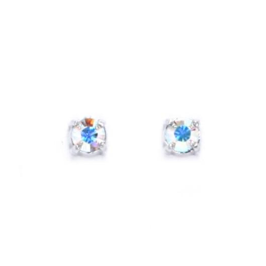 Stříbrné náušnice s kamínky Crystals From Swarovski®, AB