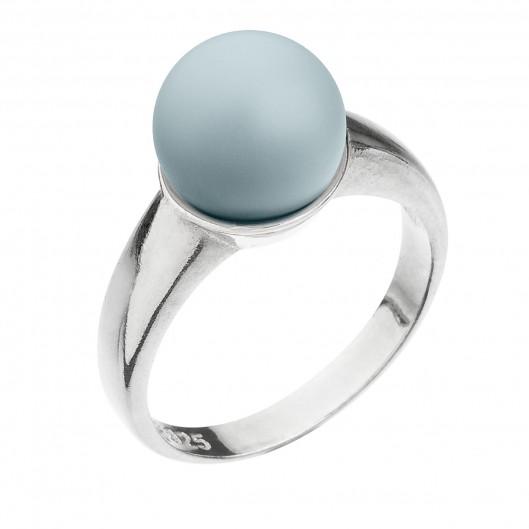 Stříbrný prsten s perlou pastelově modrý 35022.3