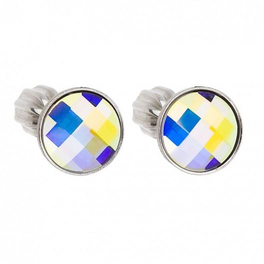 Stříbrné šroubovací náušnice s Crystals from Swarovski® AB