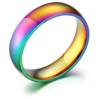 Duhový prsten chirurgická ocel ALMD012-1