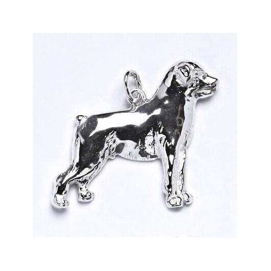 Stříbrný přívěšek pes rotvajler