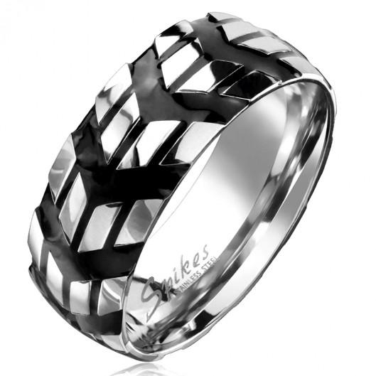 Pánský ocelový prsten pneumatika