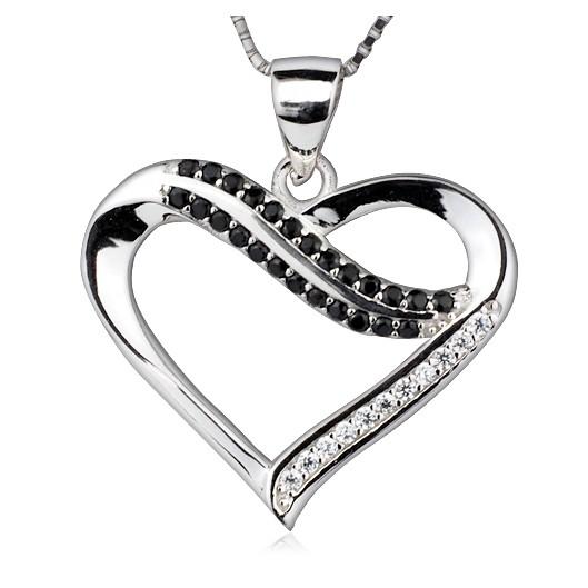 Stříbrný řetízek + přívěšek srdce