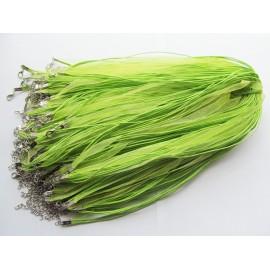Zelená šňůrka na krk z organzy