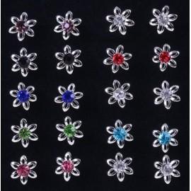 Stříbrné puzetové náušnice kytičky