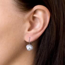 Sada šperků s krystaly Swarovski náušnice a přívěsek růžová perla kulaté 39091.3
