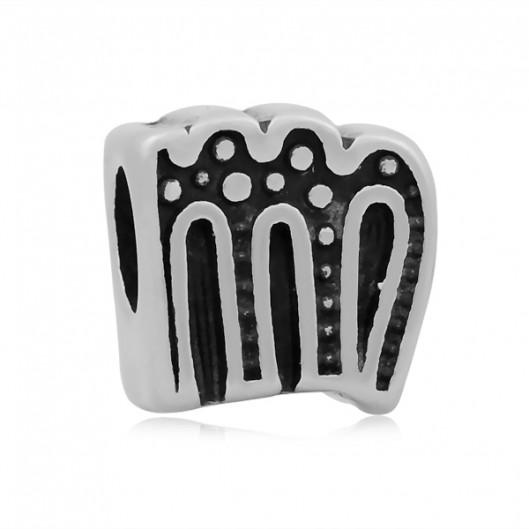 Navlékací ocelový přívěšek korálek - znamení panna