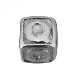 """Navlékací ocelový přívěšek korálek - písmeno """"Q"""""""