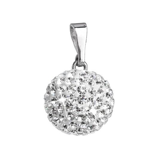 Stříbrný přívěšek s kulička s kamínky Crystals from Swarovski® Crystal