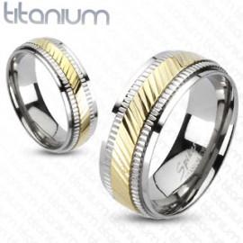 Titanové snubní prsteny 1 pár HWRTM3137