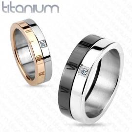Titanové snubní prsteny 1 pár HWRTM3843