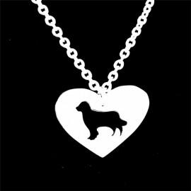Náhrdelník chirurgická ocel srdce pes kokršpaněl