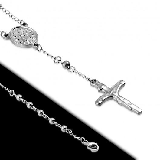 Ocelový náhrdelník růženec