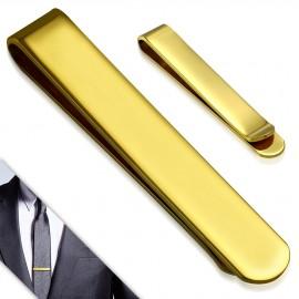 Zlacená spona na kravatu z chirurgické oceli